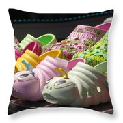 Colorful Shoe Throw Pillow