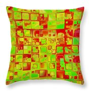 Colorful Squares II Throw Pillow