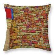 Colorful Stacked Stone Throw Pillow