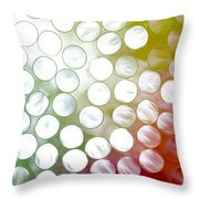 Colorful Straws Throw Pillow