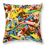 Colorful Sugar Throw Pillow