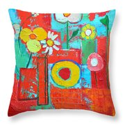 Colorful Summer  Throw Pillow