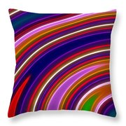 Colorful Swirls Throw Pillow