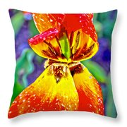 Colorful Tulip Throw Pillow