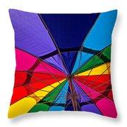 Colorful Umbrella Throw Pillow