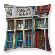 Colorful Windows Throw Pillow