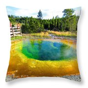 Colorful Yellowstone Throw Pillow