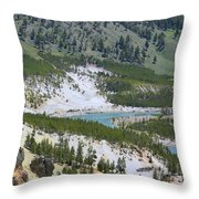 Colorful Yellowstone Valley Throw Pillow