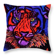 Colorfull Tiger Throw Pillow