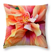 Coloring Book Hibiscus Throw Pillow