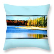 Colors At Chena Throw Pillow