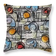 Colors Fighting To Get Out Throw Pillow