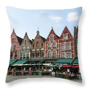Colors Of Brugge Throw Pillow