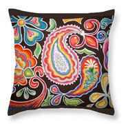 Colors Of Happiness Throw Pillow by Sandra Lett