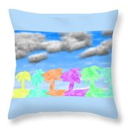 Colors Of The Palms Throw Pillow