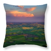 Colors Of The Palouse Throw Pillow