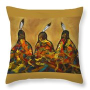 Colors Of Three Throw Pillow