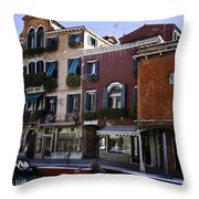 Colors Of Venice Throw Pillow