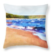 Colors Of Water Throw Pillow