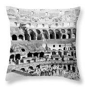 Colosseum In Rome Itlay - Interior - C 1904 Throw Pillow