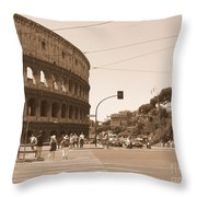 Colosseum In Sepia Throw Pillow