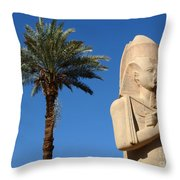 Colossus Of Ramses Ll Throw Pillow