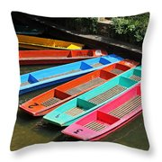 Colourful Punts Throw Pillow