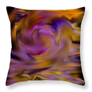 Colourful Swirl Throw Pillow