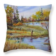 colours Of Elk Island Throw Pillow