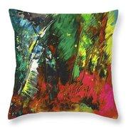 Colours Symphony Throw Pillow