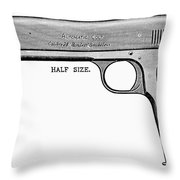 Colt Automatic Pistol Throw Pillow