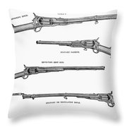 Colt Weapons, 1867 Throw Pillow