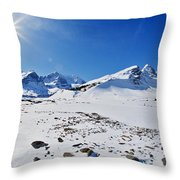 Columbia Icefield In Winter, Jasper Throw Pillow