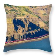 Columbia River Gorge Throw Pillow