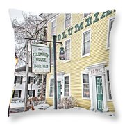 Columbian House In Waterville Oh Throw Pillow