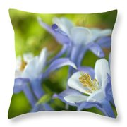 Columbine-1 Throw Pillow