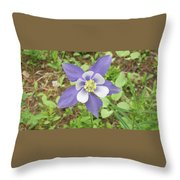 Columbine In The Woods Throw Pillow