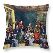 Columbus And The Egg Throw Pillow