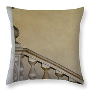 Column And Stairway At Wawel Castle In Krakow Poland Throw Pillow