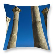 Column In Capitol In Ancient Roman City Throw Pillow