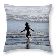 Come As A Child Throw Pillow by Holly Ethan