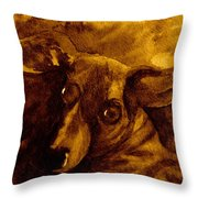 Come In Sepia Version Throw Pillow