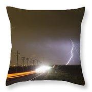 Come Into The Light Lightning Strike Throw Pillow