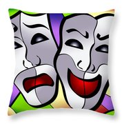 Comedy And Tragedy Throw Pillow