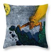 Comet Apocalypse, 1857 Throw Pillow