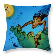 Comet Colliding With Earth Throw Pillow