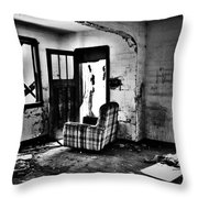 Comfortably Caged Throw Pillow