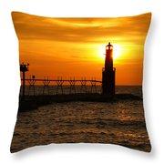 Comforting Glow Throw Pillow