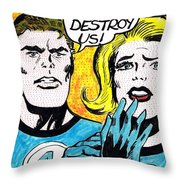 Comic Strip Throw Pillow