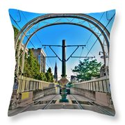 Coming And Going Downtown Main St Throw Pillow